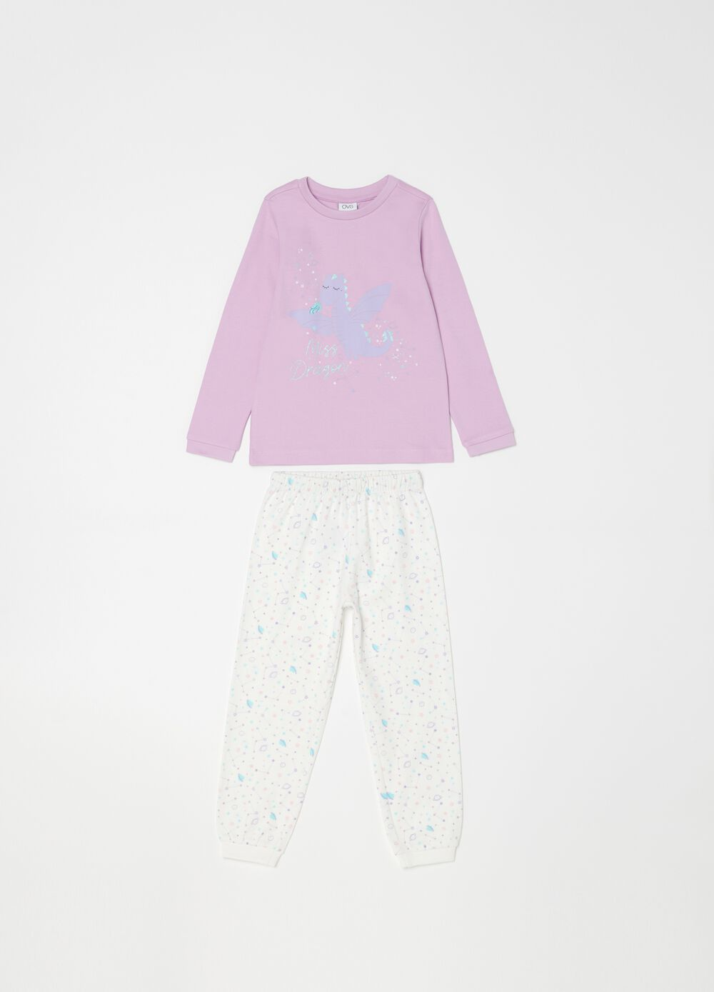 100% organic cotton pyjamas with dragon print