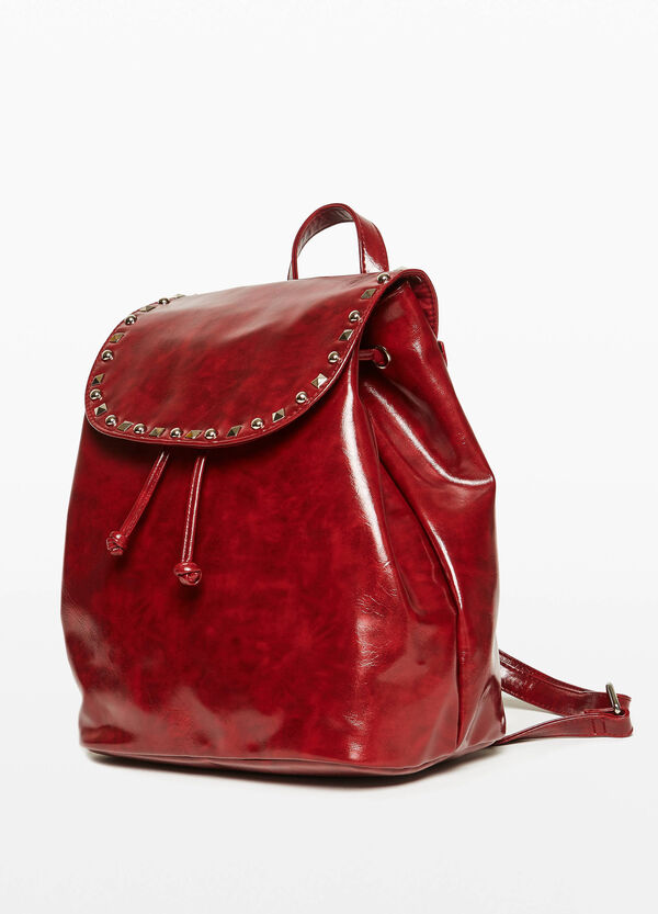 Shiny backpack with studs