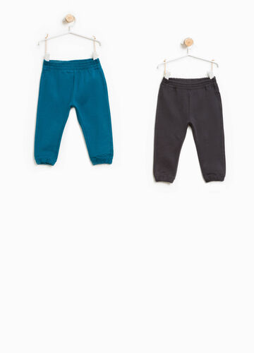 Two-pack solid colour joggers in cotton