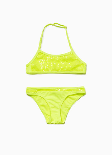 Bikini stretch con paillettes