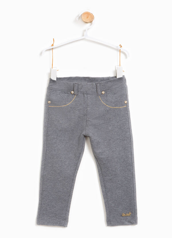 Stretch cotton mélange trousers | OVS