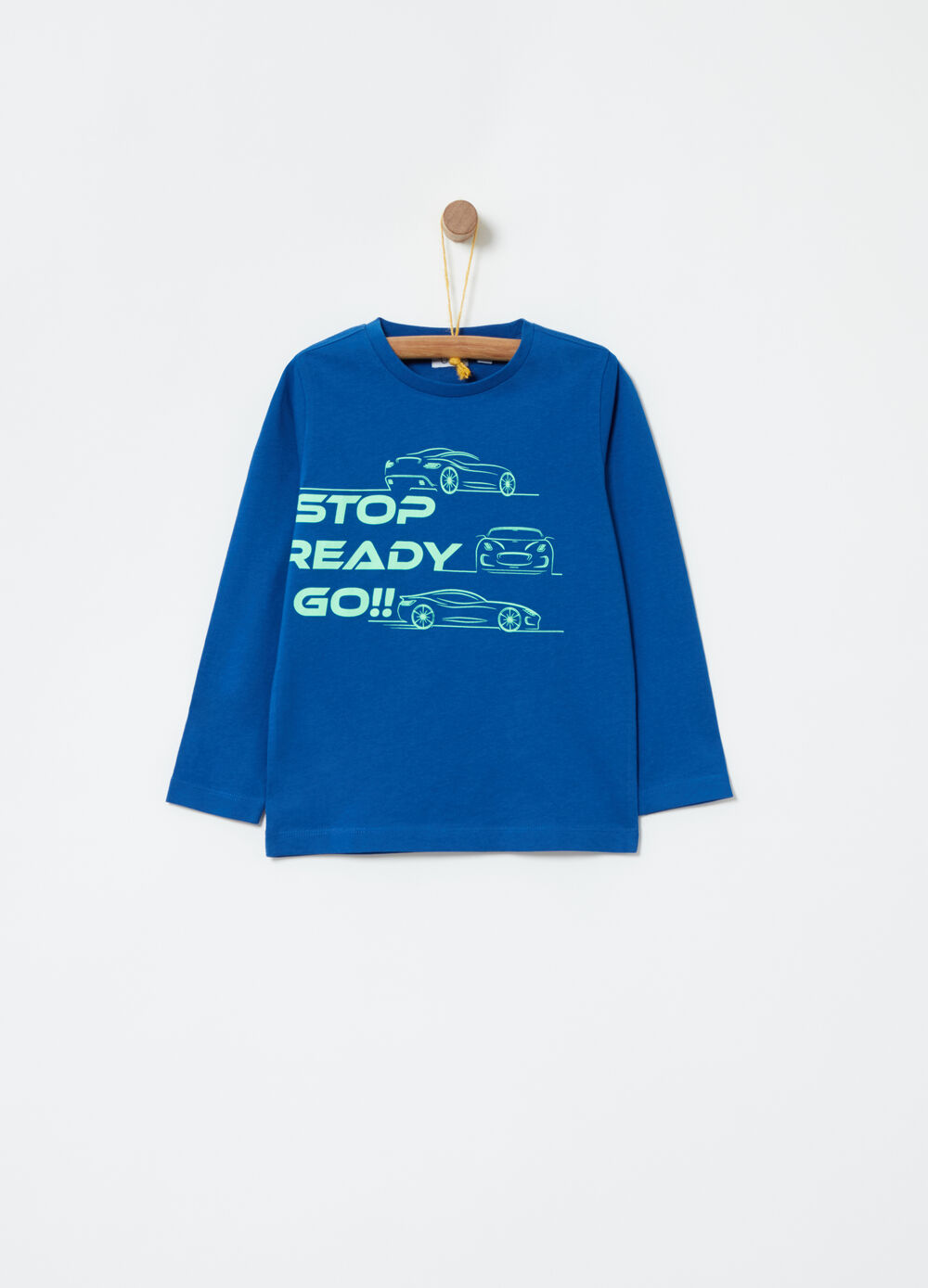 Sweatshirt in lightweight cotton with print