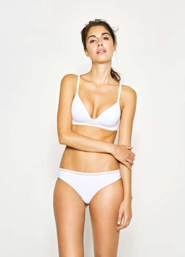 Two-tone Brazilian-cut briefs with lace on the back   OVS