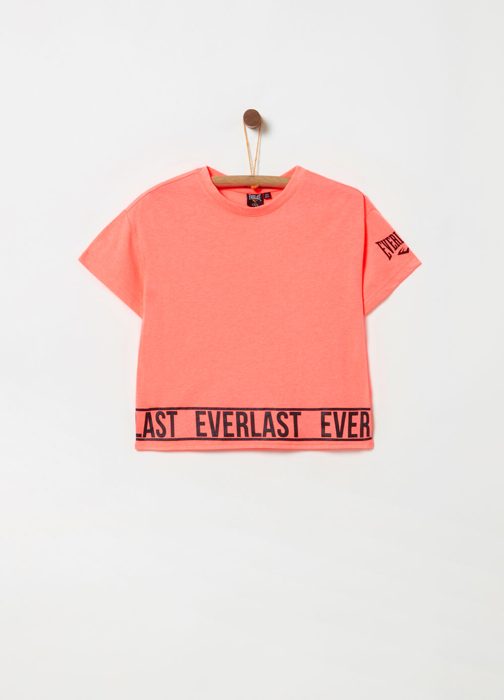 T-shirt cropped stampa glitter Everlast