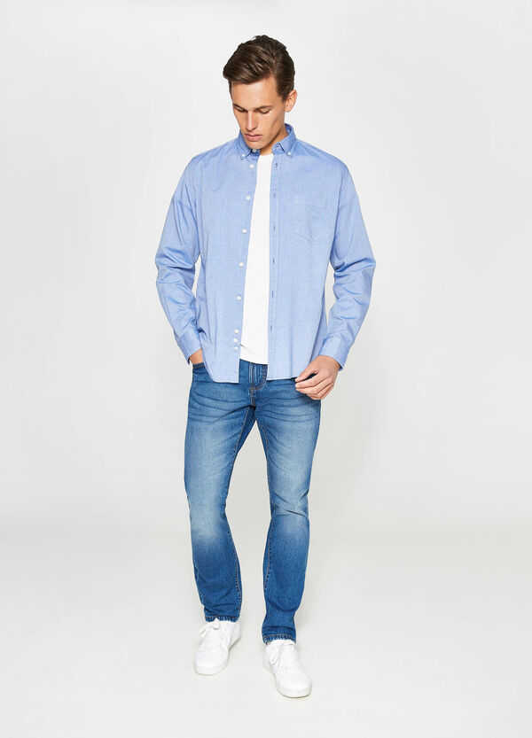 Casual-fit formal shirt with breast pocket   OVS
