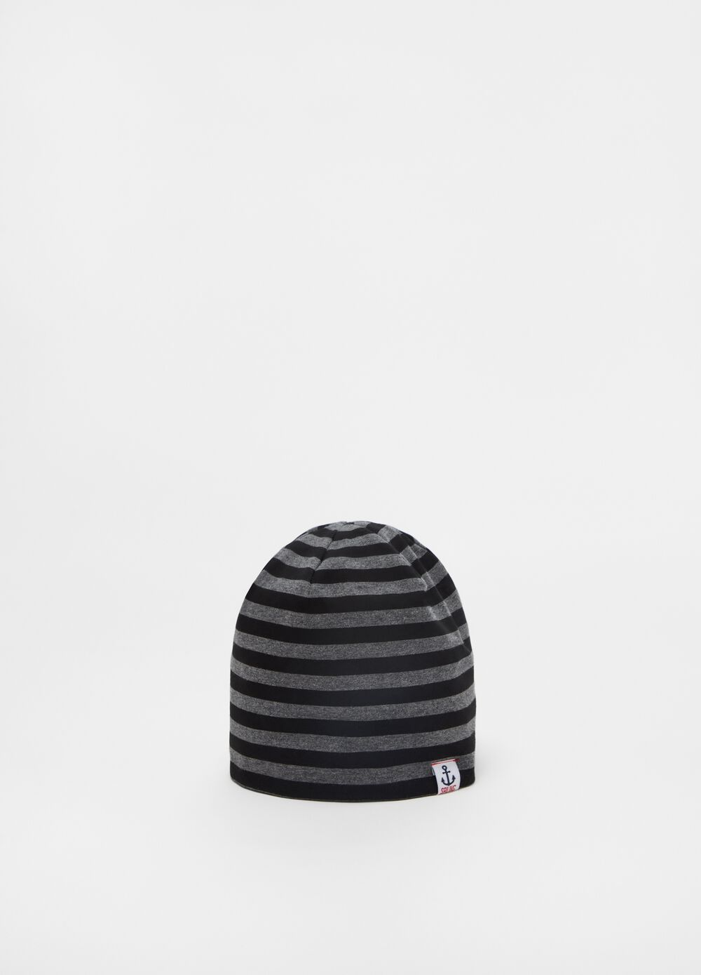 Striped jersey cap