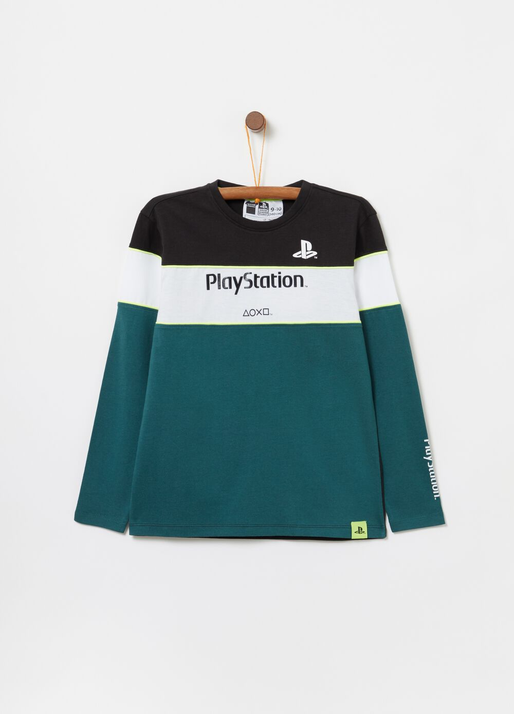 Cotton Playstation T-shirt with long sleeves