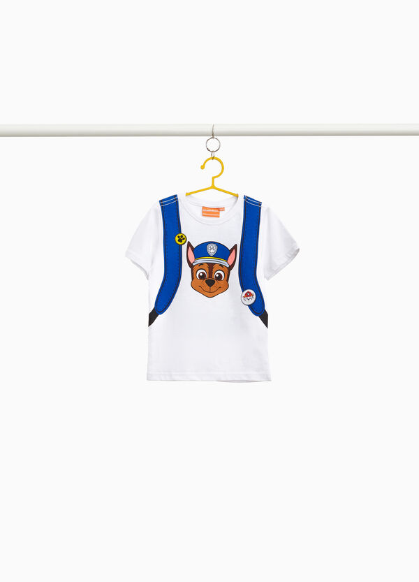 T-shirt in 100% cotton with Paw Patrol print