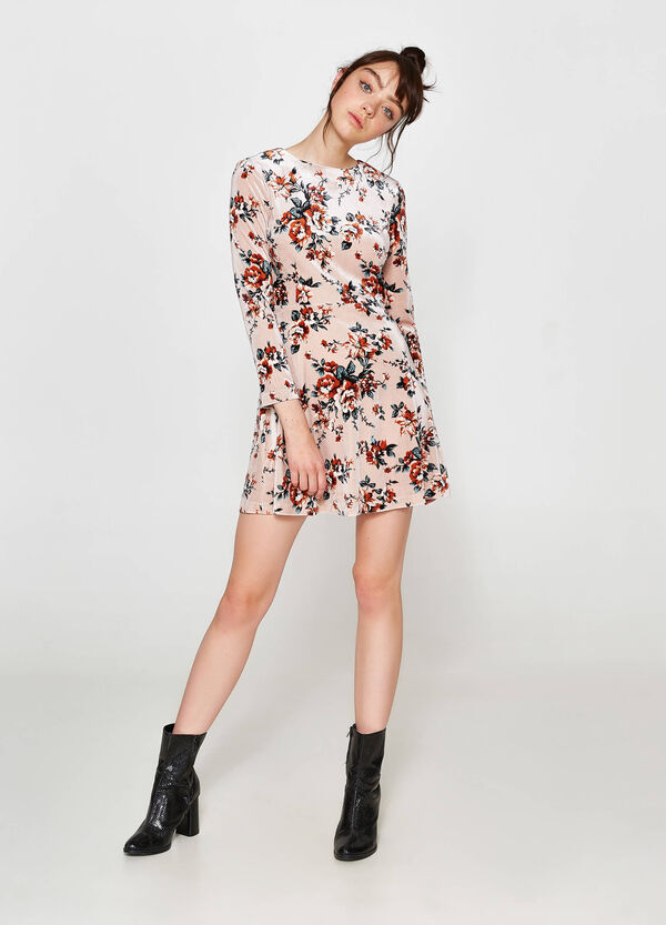 Stretch dress with all-over floral print | OVS