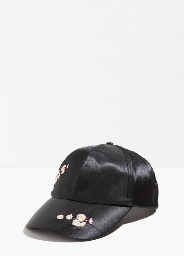 Baseball cap with floral embroidery | OVS