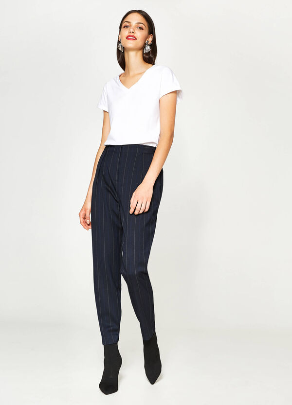 Pantaloni stretch a righe | OVS