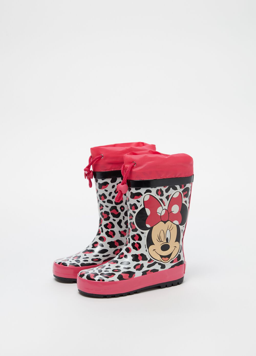 Rain boots with Disney Minnie Mouse print
