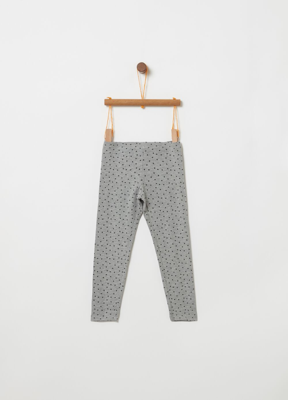 Leggings with micro check print