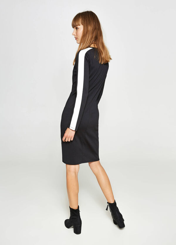 Viscose tube dress with bands | OVS