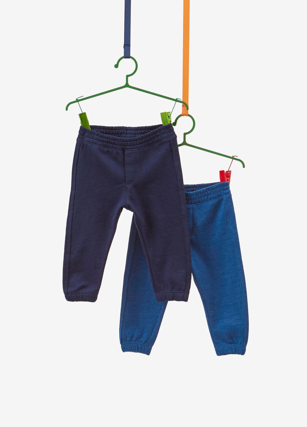 Two-pack mélange trousers in 100% cotton