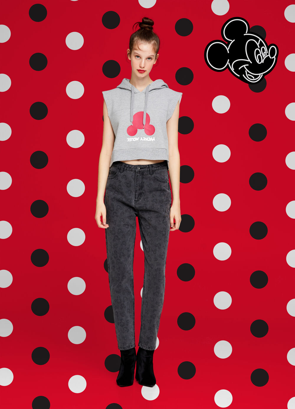 Mickey Mouse stretch jeans