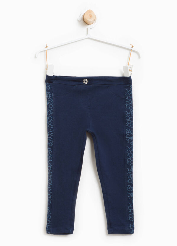 Trousers with floral patterned inserts | OVS