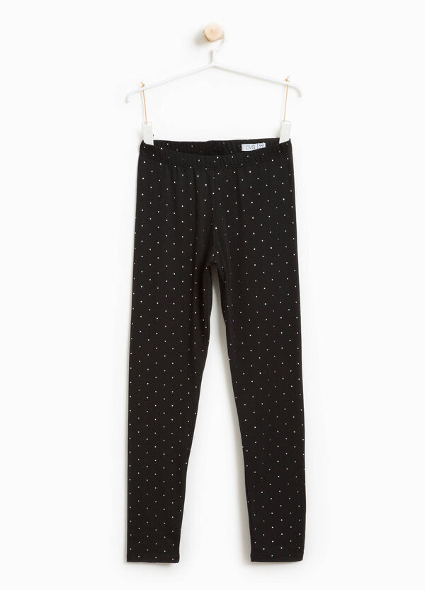 Leggings stretch a pois | OVS