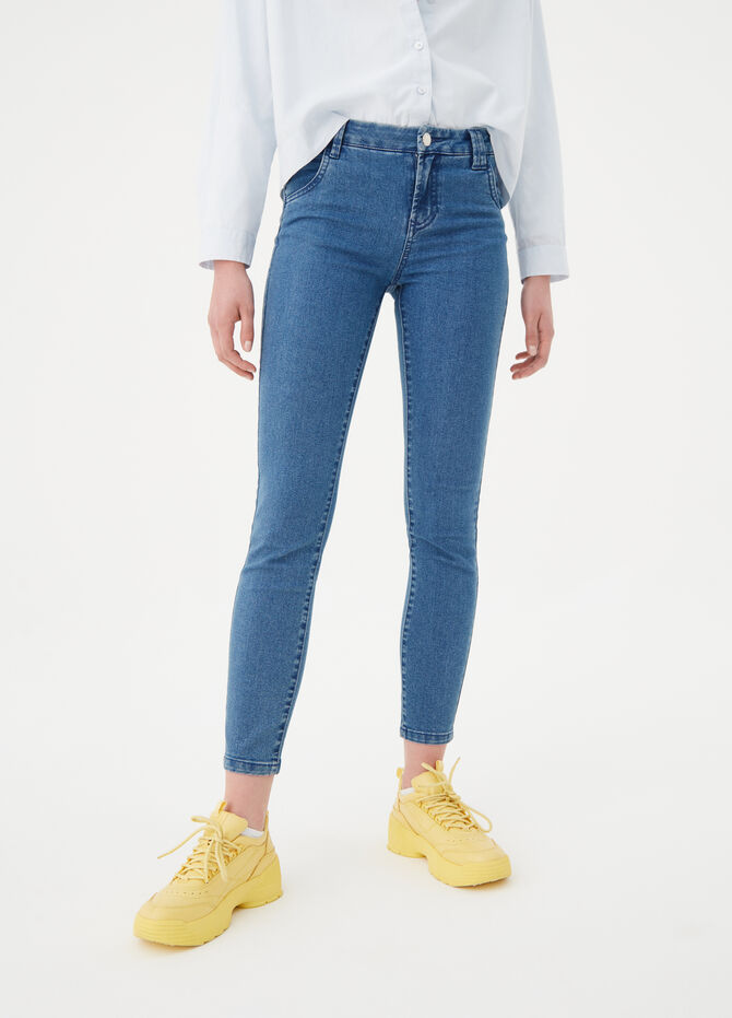 Skinny-fit basic jeans with five pockets