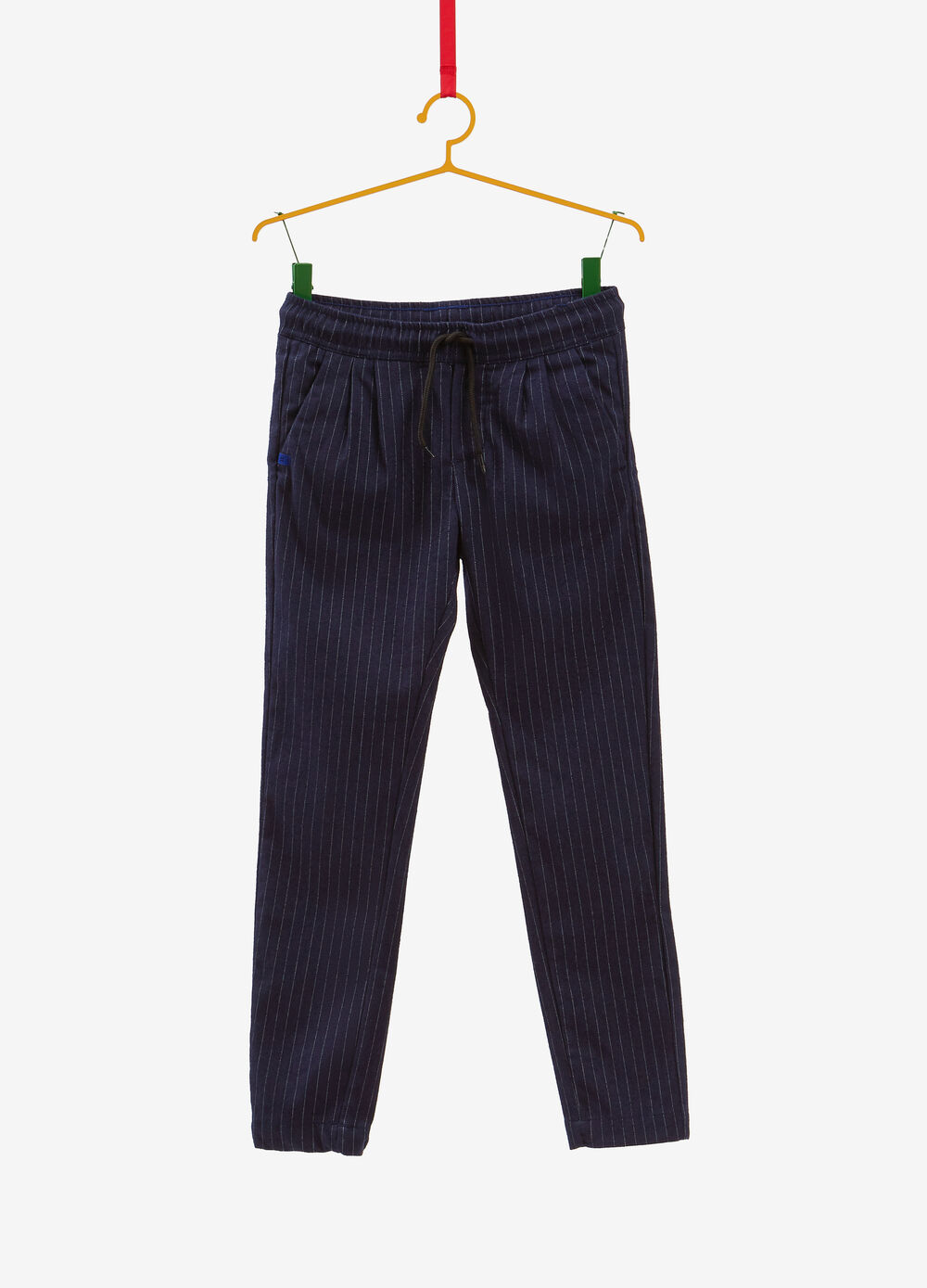 Striped stretch chino trousers