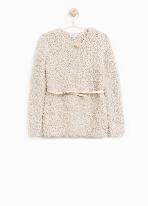 Knitted cardigan with belt | OVS