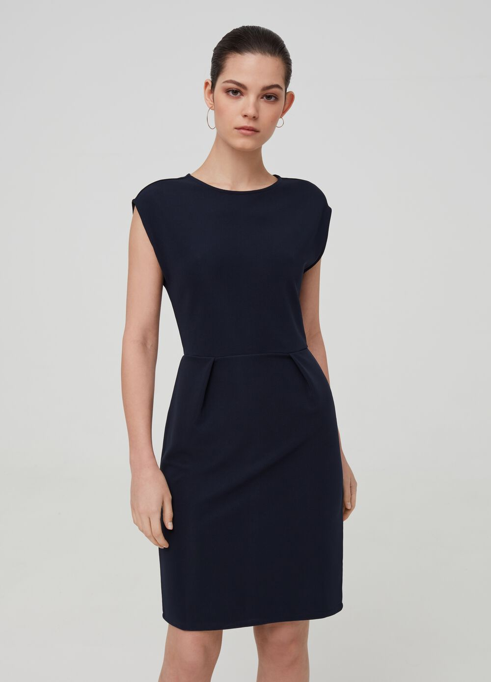 Short stretch dress with zip