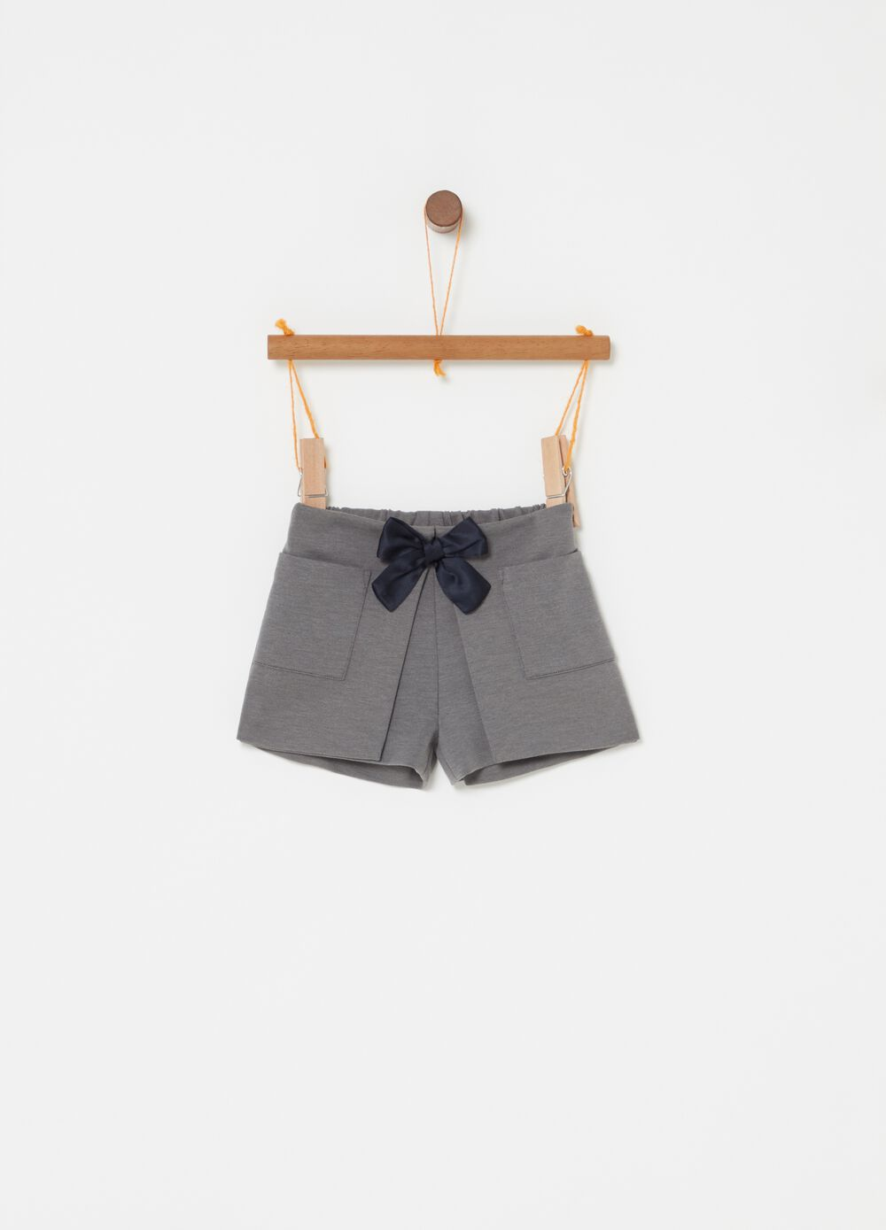 Culottes with pockets and bow