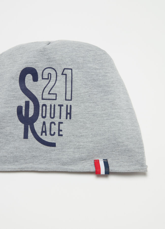 Cotton cap with print and application