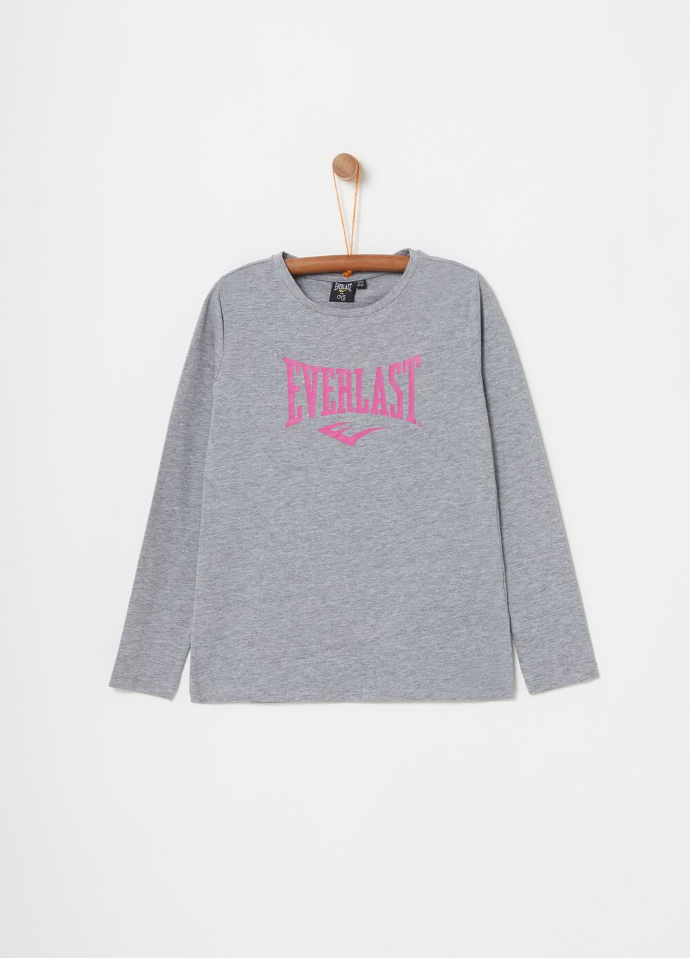 Stretch cotton T-shirt with Everlast print