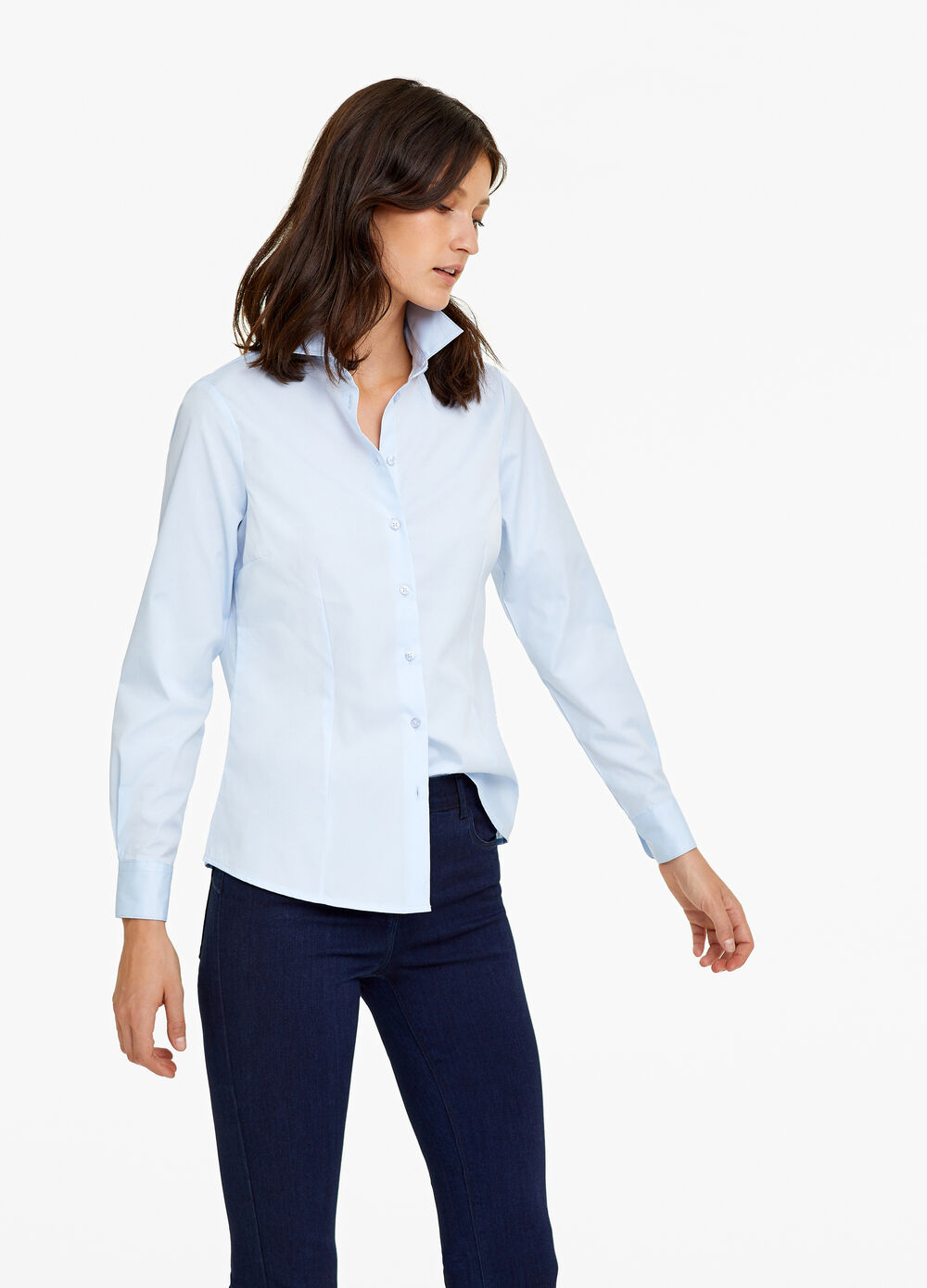 Cotton blend jacquard shirt