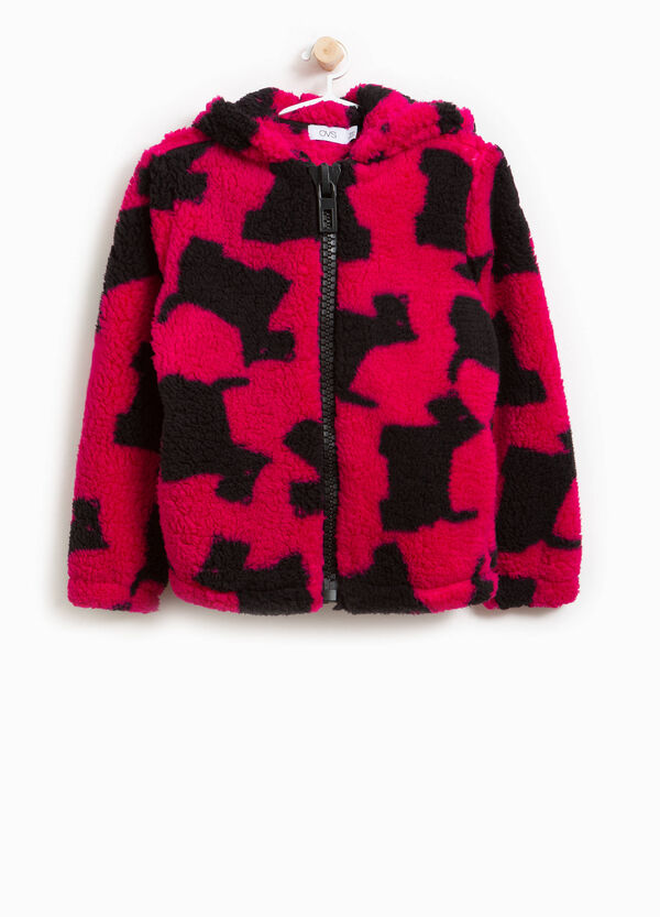 Patterned fleece hoodie | OVS