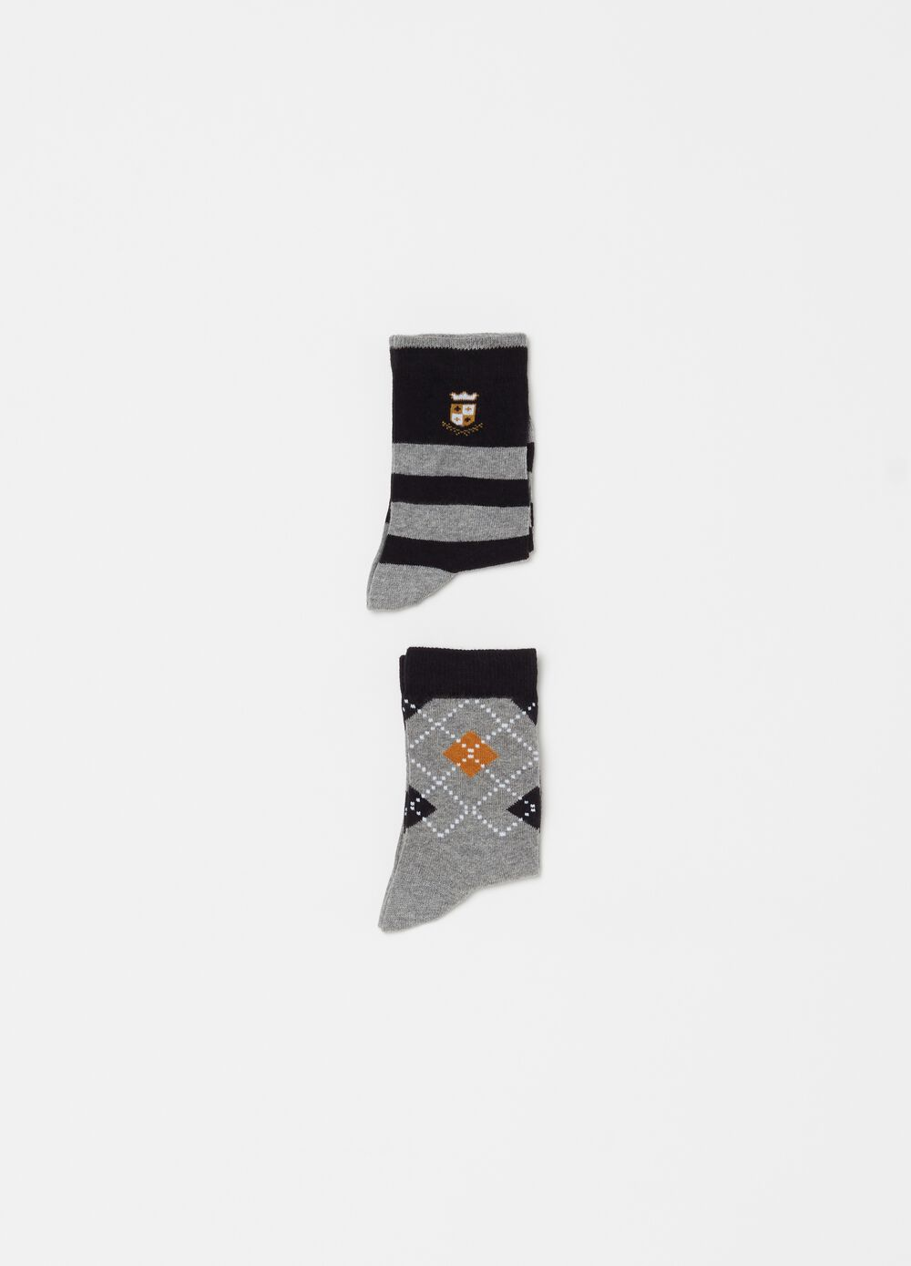 Two-pack short stretch cotton socks