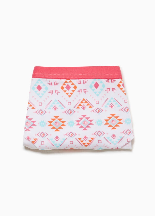 Patterned French knickers in stretch cotton