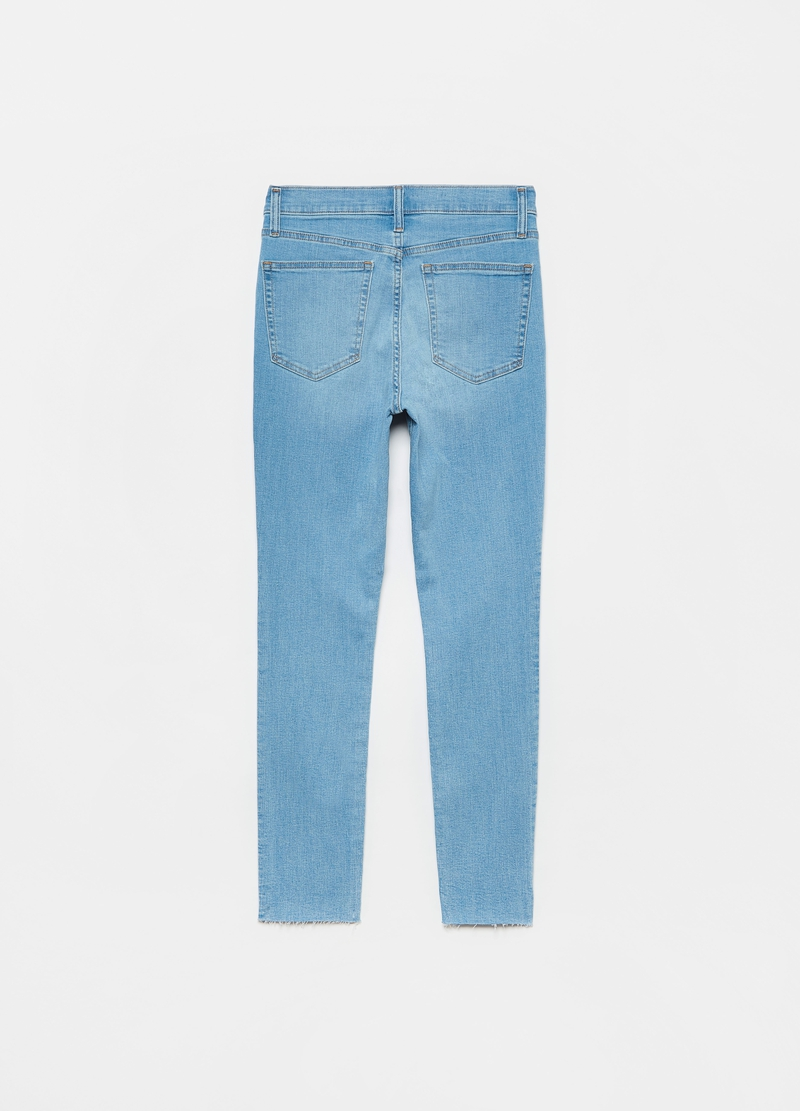 GAP skinny jeans with raw edging image number null