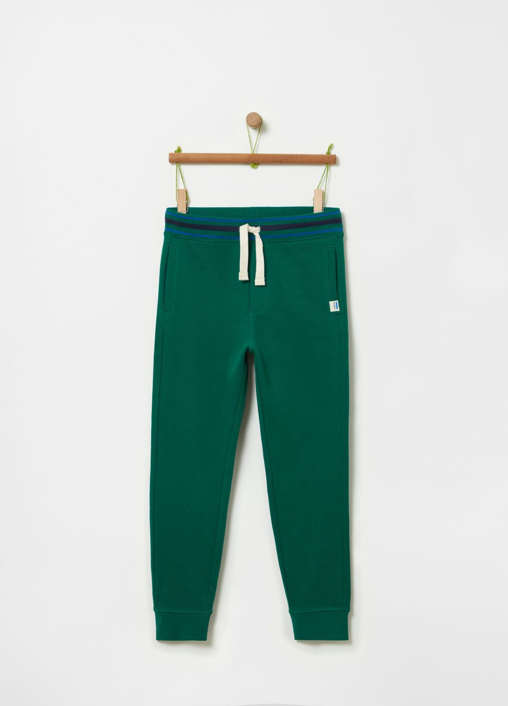 Solid colour 100% organic cotton joggers