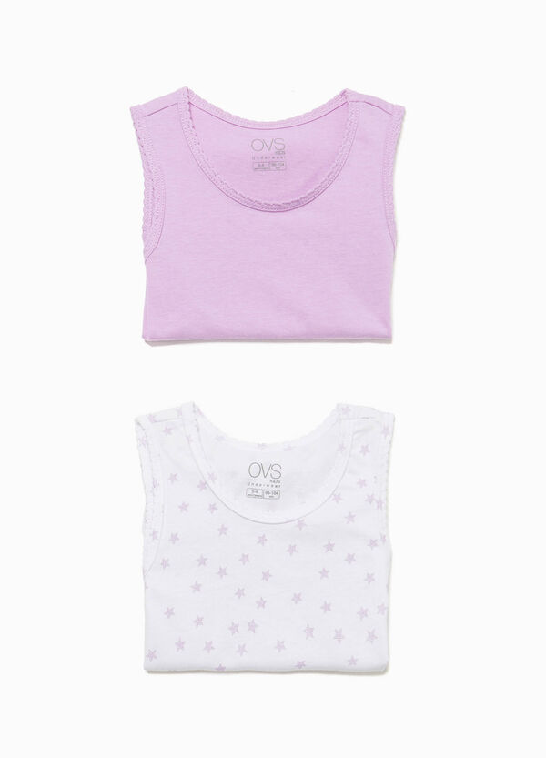 Set of two under vests with stars pattern