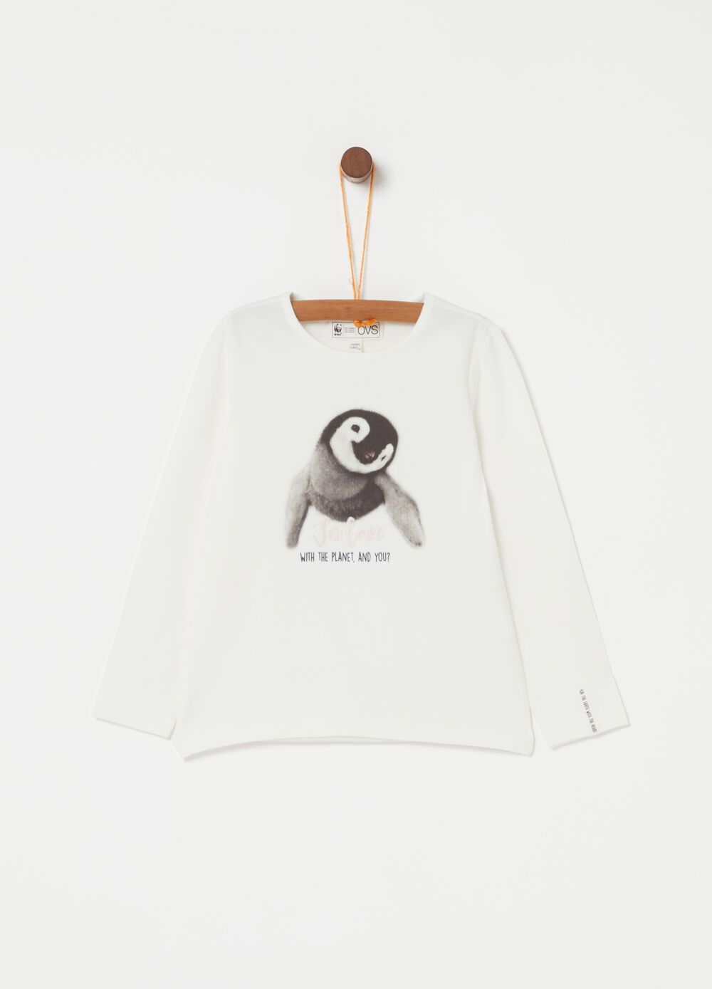 Long-sleeved T-shirt with WWF print
