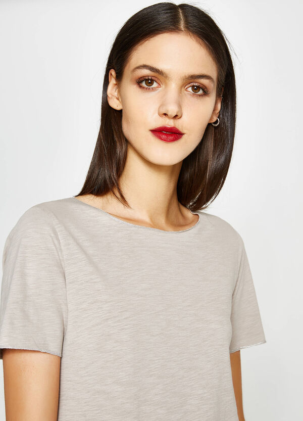 100% cotton T-shirt with scoop neck | OVS