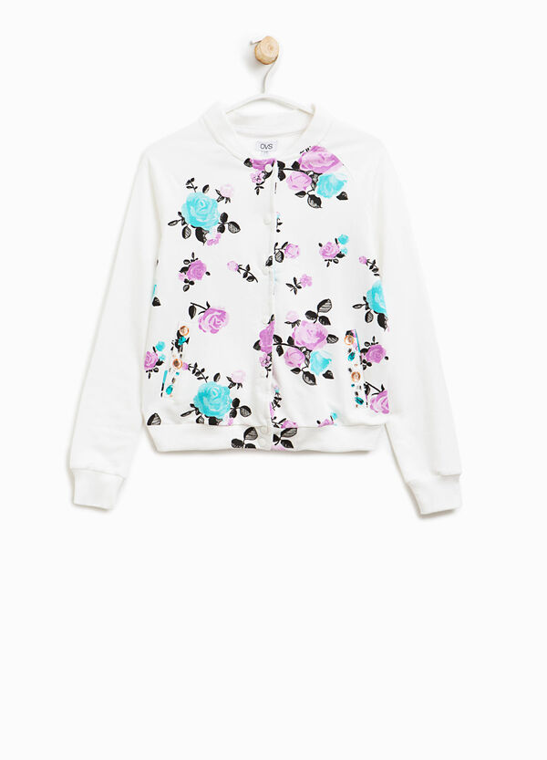 Cotton sweatshirt with floral pattern | OVS