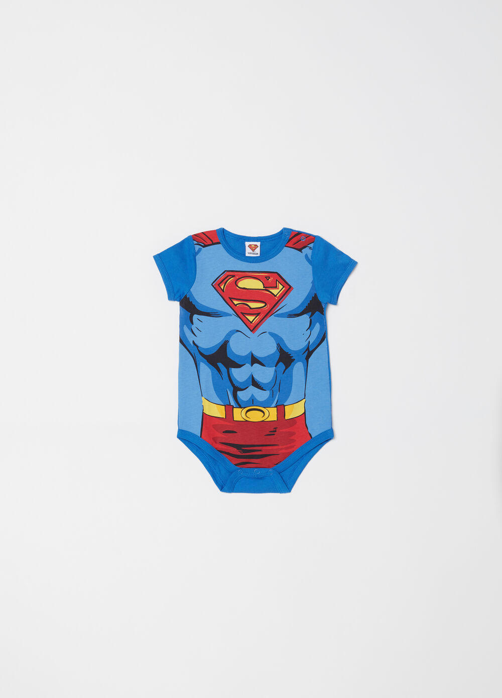 Body in cotone maniche corte Superman