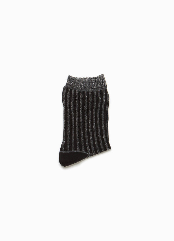 Stretch striped short socks