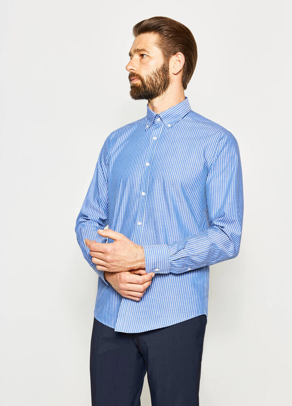 Slim-fit formal striped shirt | OVS