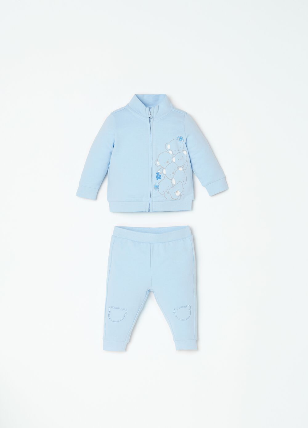 Full-zip sweatshirt and trousers set with print