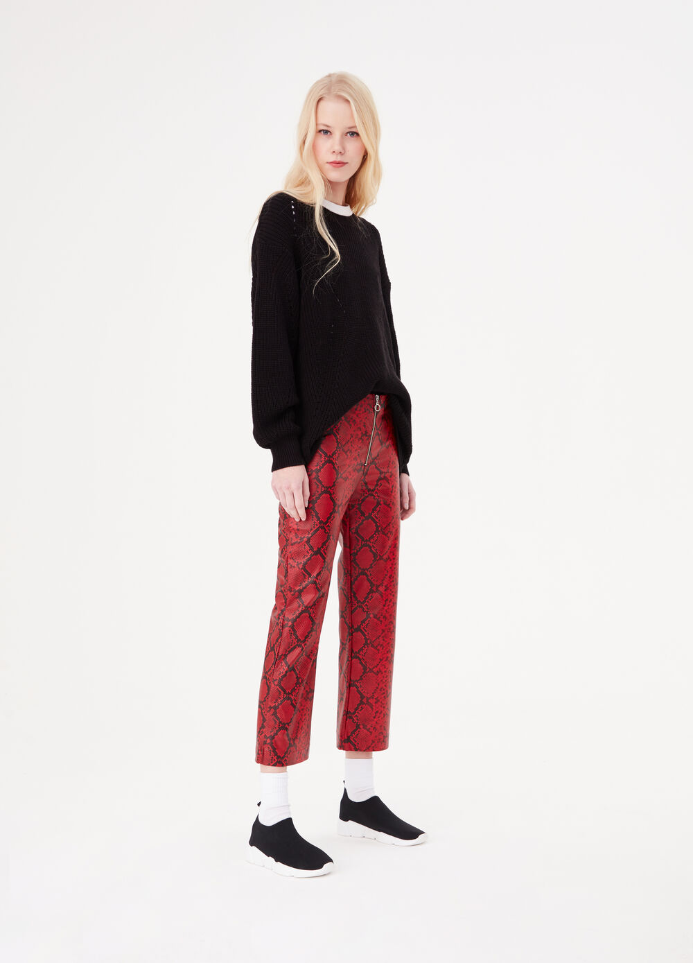 Animal flared trousers