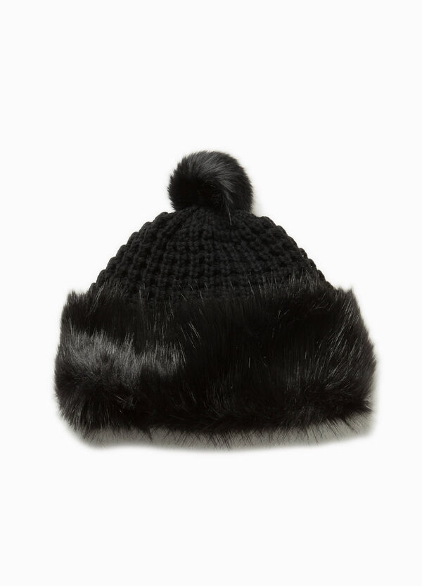 Beanie cap with fur | OVS