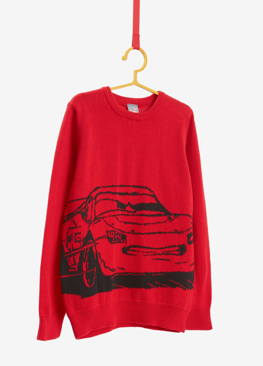 100% cotton pullover with Cars embroidery