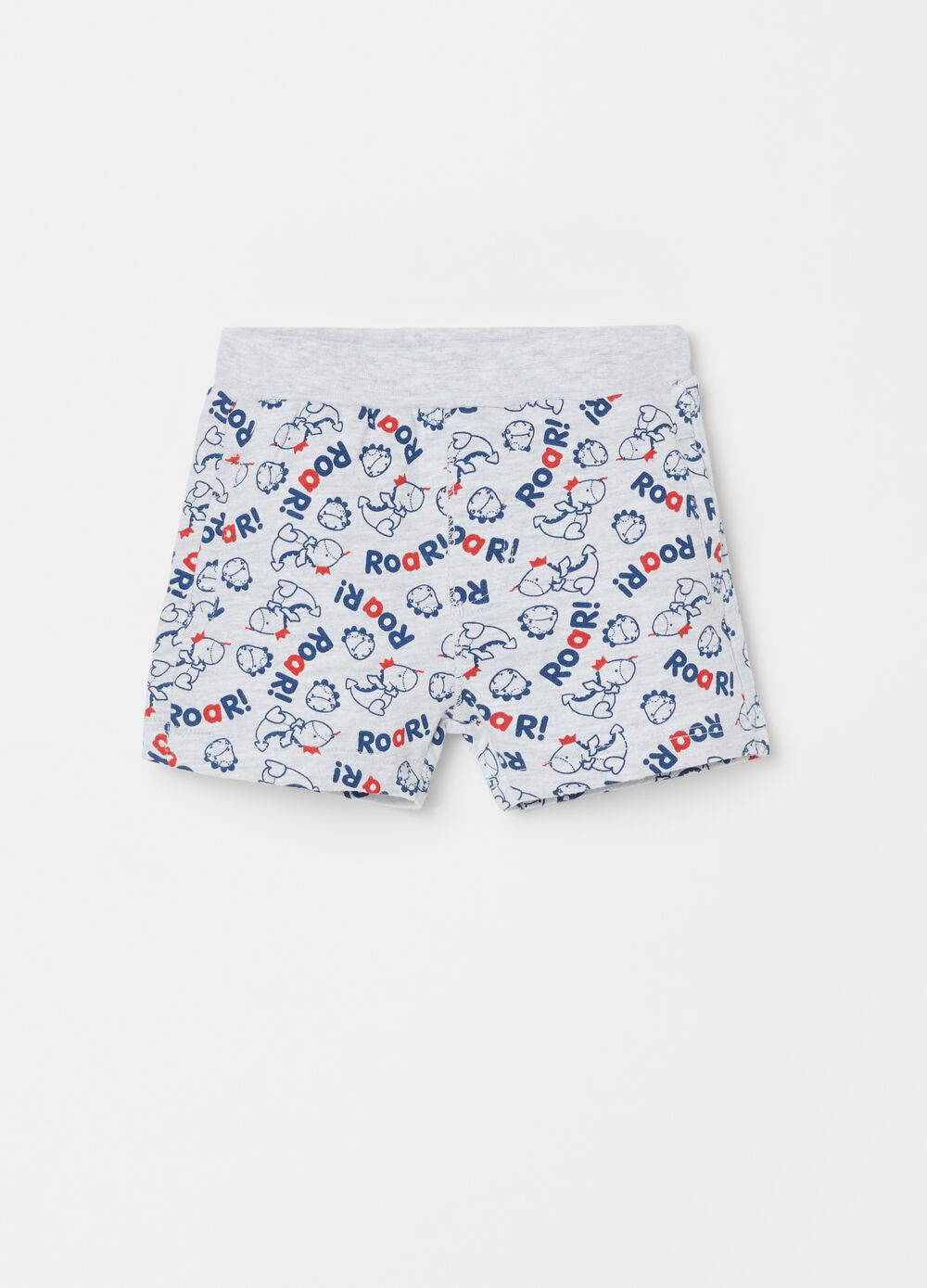 Shorts with pocket and dinosaur pattern