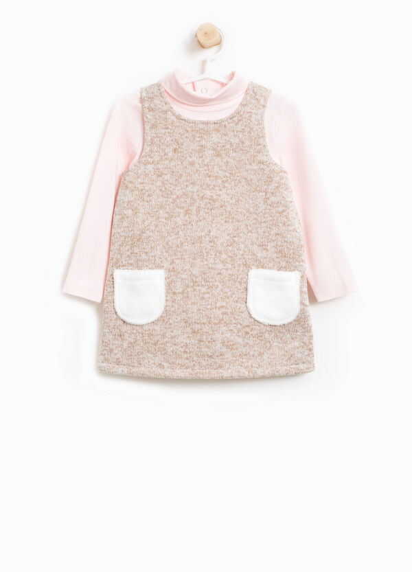 Mélange turtleneck top and dress outfit | OVS