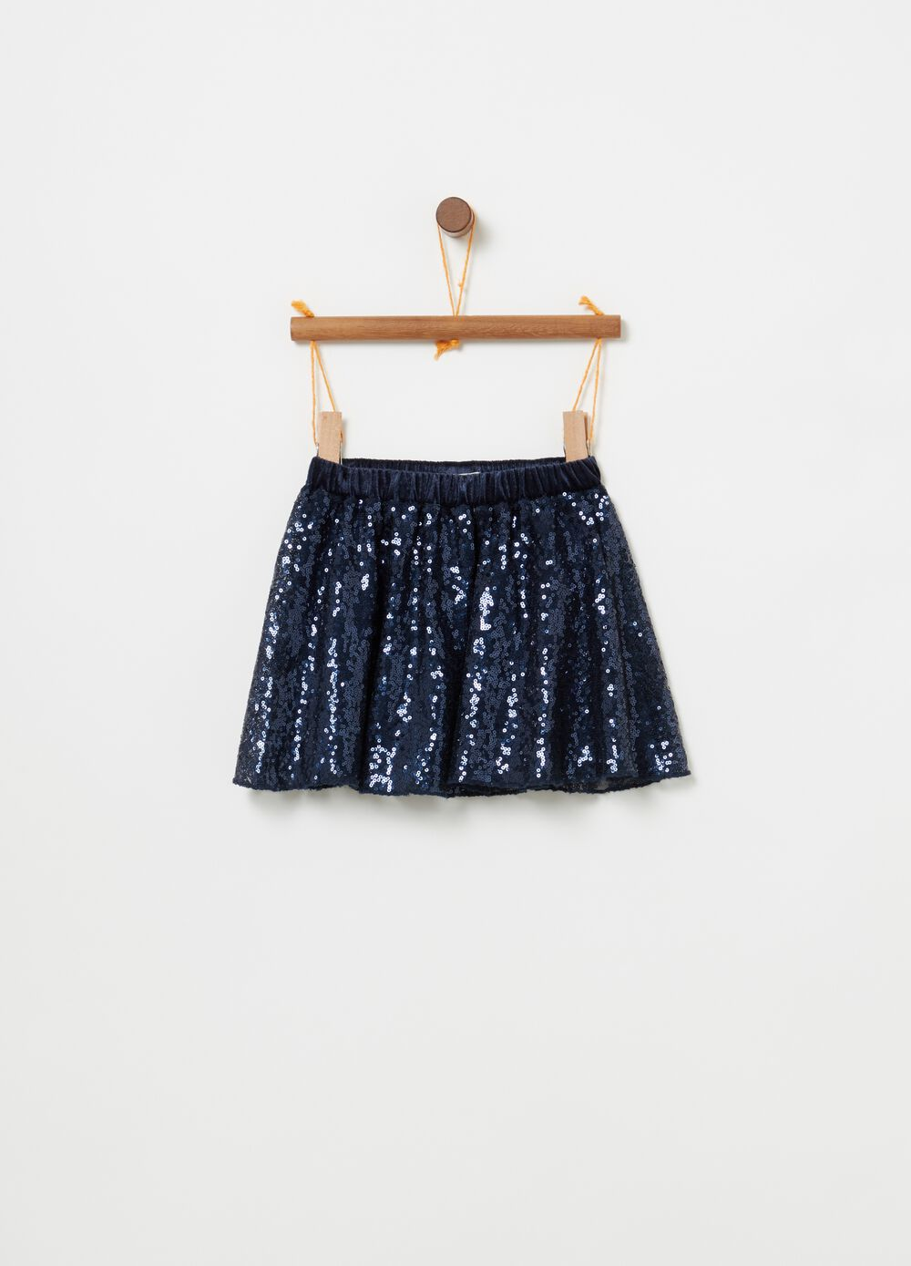 Skirt with all-over sequins