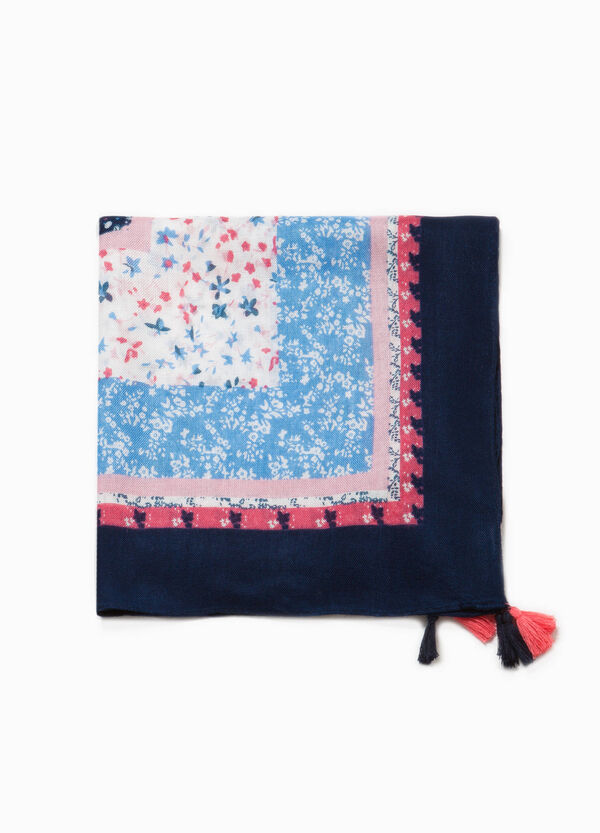 Floral pashmina with tassels | OVS